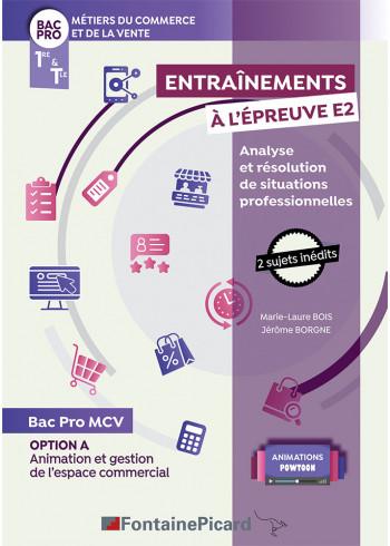 Option A : Entraînements à l'épreuve E2 - Analyse et résolution de situations professionnelles