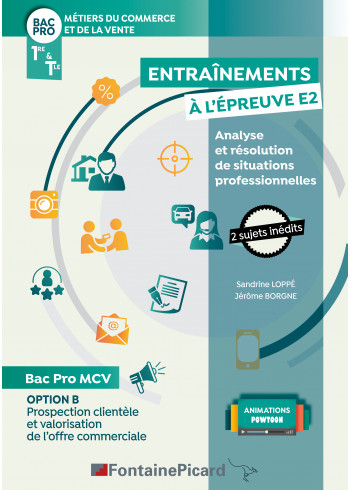 Option B : Entraînements à l'épreuve E2 - Analyse et résolution de situations professionnelles